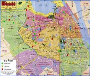 Bản đồ du lịch Hà Nội (nguồn vuhn)